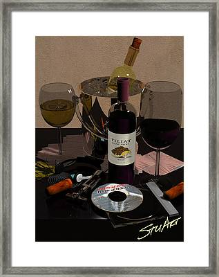 Bottle Of Red...bottle Of White Framed Print