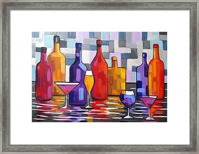 Bottle Of Wine Framed Print