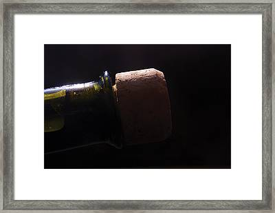 bottle top and Cork Framed Print by Steve Somerville