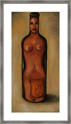 Bottle Woman 3 Framed Print by Leah Saulnier The Painting Maniac