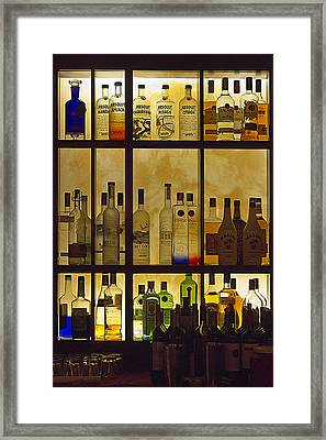 Framed Print featuring the photograph Bottle Works by Ron Dubin
