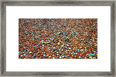 Bottlecap Alley Framed Print by David Morefield