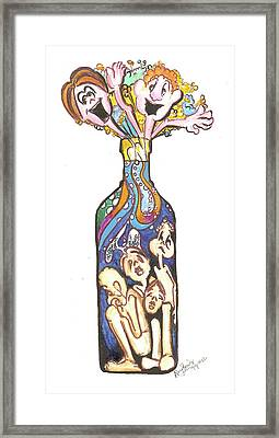 Bottled Emotions Framed Print by Remy Francis