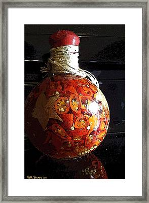 Bottled Fire Framed Print