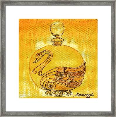 Bottled Gold Swan Framed Print