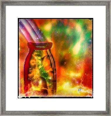 Bottled Spirit Framed Print by Christine Paris