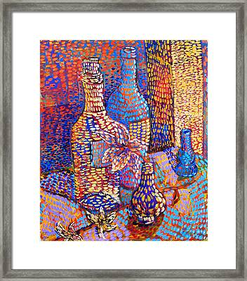 Bottles And Vases Framed Print by Rollin Kocsis