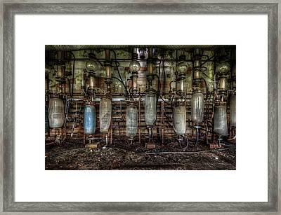 Framed Print featuring the digital art Bottles Hanging On The Wall  by Nathan Wright