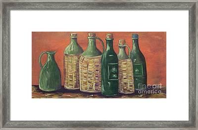 Bottles Framed Print