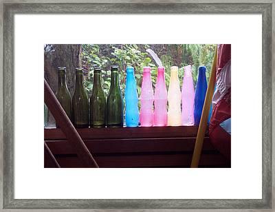 Bottles Framed Print by Klee Miller