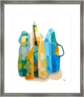 Bottles Still Life Framed Print by Carola Ann-Margret Forsberg