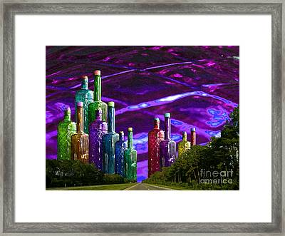 Bottlescape Framed Print by Ayesha DeLorenzo