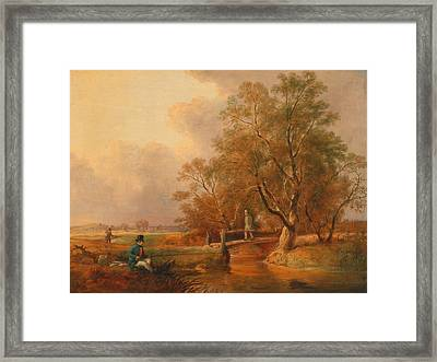 Bottom Fishing Framed Print by Mountain Dreams