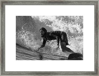 Bottom Framed Print by Michele Chiroli