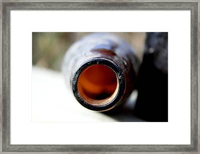 Bottom Of The Bottle Framed Print by Alexandra Harrell