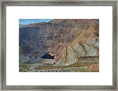 Framed Print featuring the photograph Bottom Of The Lavender Pit Mine by Dan McManus