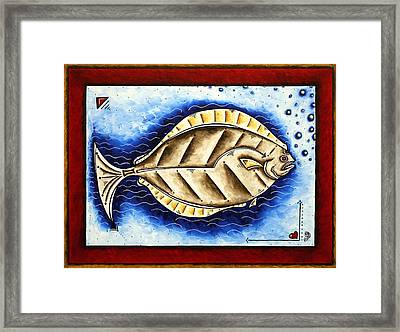 Bottom Of The Sea Creature Original Madart Painting Framed Print by Megan Duncanson