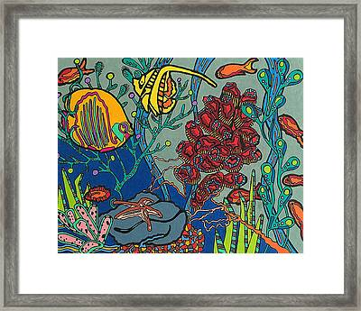 Bottom Of The Sea Framed Print by Molly Williams