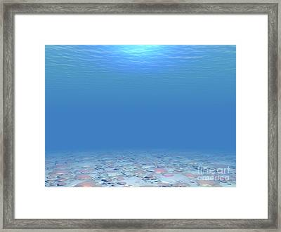 Framed Print featuring the digital art Bottom Of The Sea by Phil Perkins