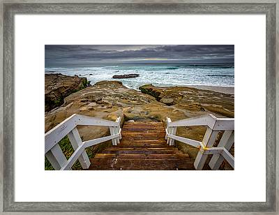 Bottom Of The Steps Framed Print by Peter Tellone