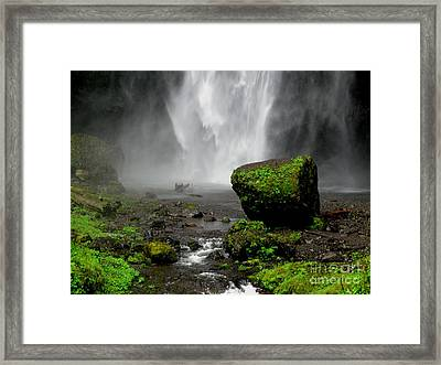 Bottom Of Wakeena Falls Framed Print by PJ  Cloud