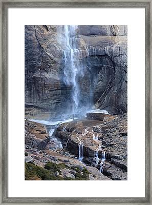 Bottom Part Of Upper Yosemite Waterfall Framed Print
