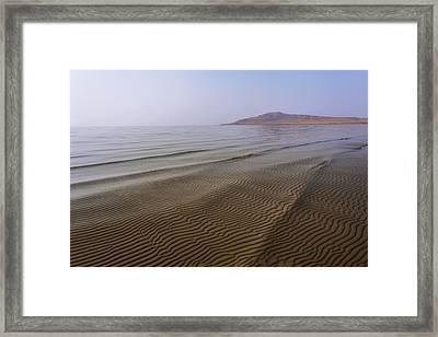 Bottom Ripples Framed Print