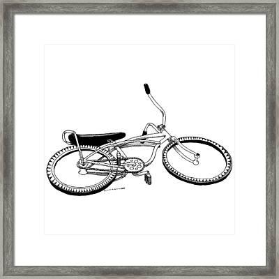 Bottom Up Bike Framed Print