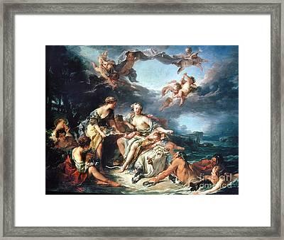 Boucher: Abduction/europa Framed Print
