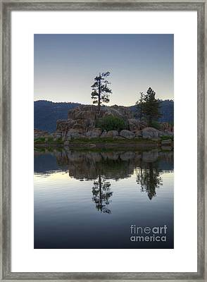Framed Print featuring the photograph Boulder Bay Reflections  by Kelly Wade