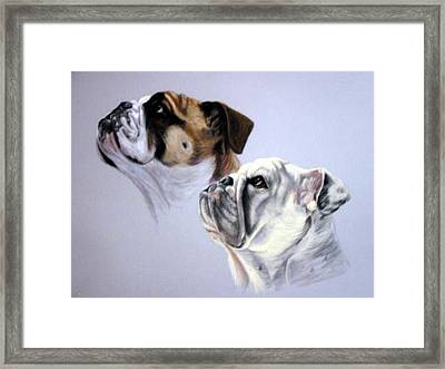 Bouderaux And Gertrude Framed Print by Anne Kushnick