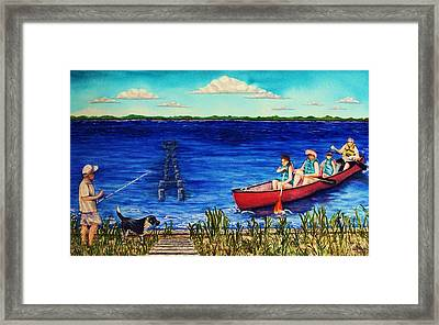 Bouge Sound Summer Outing Framed Print by Jeanette Stewart