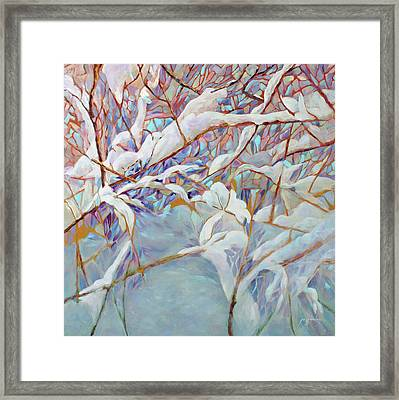 Framed Print featuring the painting Boughs In Winter by Joanne Smoley