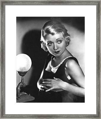 Bought, Constance Bennett, 1931 Framed Print