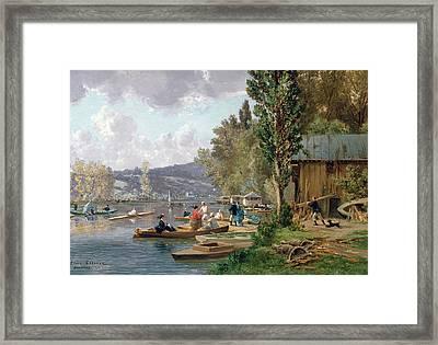 Bougival Framed Print by Emile-Edme Laborne