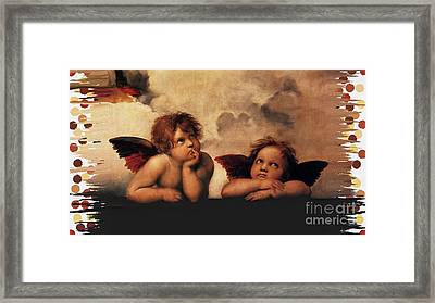 Bouguereau Painting Fresh Paint  Framed Print by Catherine Lott