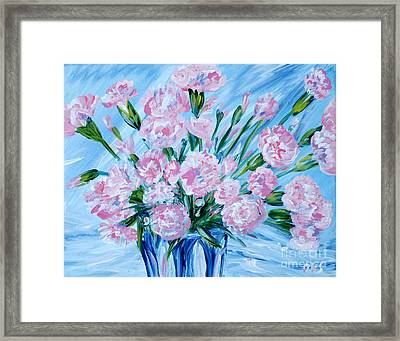 Bouguet Of Carnations.  Joyful Gift. Thank You Collection Framed Print