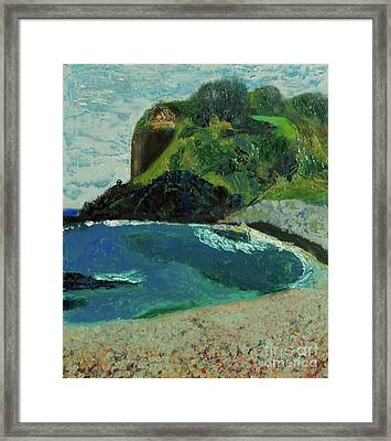 Framed Print featuring the painting Boulder Beach by Paul McKey