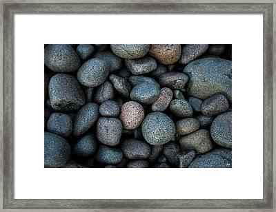 Boulder Beach Rocks Framed Print