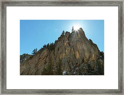 Framed Print featuring the photograph Boulder Canyon Narrows Pinnacle by James BO Insogna