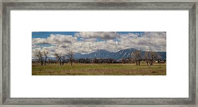 Framed Print featuring the photograph Boulder Colorado Front Range Panorama View by James BO Insogna