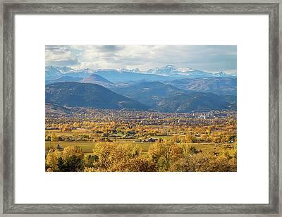 Boulder Colorado Autumn Scenic View Framed Print