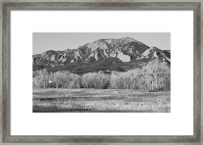Boulder Colorado Flatiron View From Jay Rd Bw Framed Print by James BO  Insogna