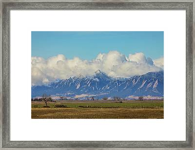 Framed Print featuring the photograph Boulder Colorado Front Range Cloud Pile On by James BO Insogna