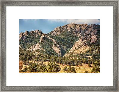 Framed Print featuring the photograph Boulder Colorado Rocky Mountain Foothills by James BO Insogna