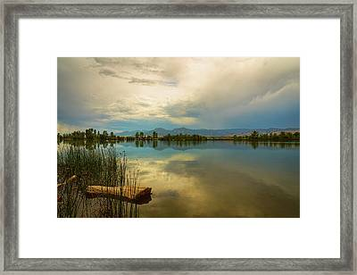 Framed Print featuring the photograph Boulder County Colorado Calm Before The Storm by James BO Insogna