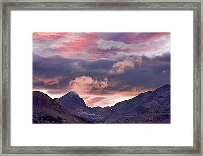 Boulder County Colorado Indian Peaks At Sunset Framed Print by James BO  Insogna