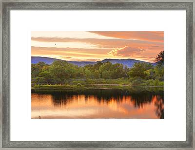 Boulder County Lake Sunset Landscape 06.26.2010 Framed Print by James BO  Insogna