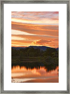 Boulder County Lake Sunset Vertical Image 06.26.2010 Framed Print by James BO  Insogna