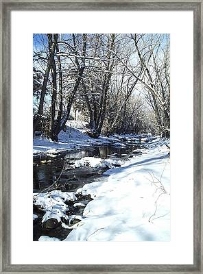 Boulder Creek After A Snowstorm Framed Print